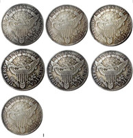 الولايات المتحدة 1798 -1804 7 قطع رايات تمثال نصفي الدولار هيرالديك النسر الفضة مطلي نسخة عملات معدنية الحرفية يموت التصنيع سعر المصنع