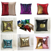 Sequin Pillow Case cover Mermaid Pillow Cover Glitter Revers...