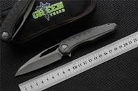 NEW Green thorn marfione Flipper folding knife M390 steel be...