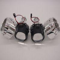 2.5 pouces bixenon caché voiture objectif de projecteur adapté pour H1 H4 H7 phare de voiture phare lampe ampoule kit de montage livraison gratuite