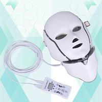متعددة الوظائف PDT الفوتون الصمام قناع الوجه الرقبة 7 لون الصمام العلاج تبييض البشرة لشد الوجه قناع الجمال قناع كهربائي لمكافحة الشيخوخة