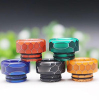 810 Thread Drip Tips Cone Shape Resin Snake Skin Mouthpiece ...