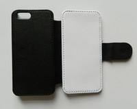 Flip Leren Case voor iPhone 5 5S SE Sublimatie Case + lege afdrukbare polyester doek