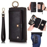iPhone 7 Wallet Case Zipper Purse Detachable Magnetic 14 Car...