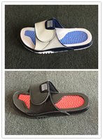 Wholesale 11 XI Hydro bred black red blue white slippers MEN...