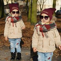 Kids Cashmere like Scarf Autumn Winter Warm Pineapple Scarve...