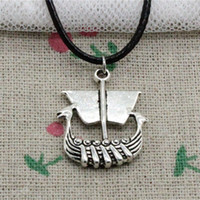 New Fashion Tibetan Silver Pendant viking ship boat 26*21mm ...