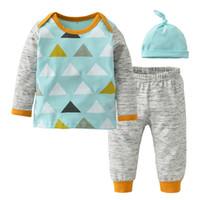 Bébé Garçon Vêtements Set Automne style Coton À Manches Longues Casual Mode Patchwork 3 PCS Toddler Costume Nouveau-Né Bébé Filles Vêtements