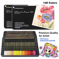 e35121f6b8745 Alta calidad 120 lápices de colores profesionales 120 colores Acuarela  lápiz Set Art School Student Supplies