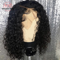 Honrin Hair Deep Part Lace Front Wig Short Deep Curly Pre Pl...