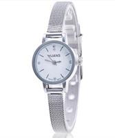 Huans Otoky Señoras Relojes Relojes Reloj de pulsera Mujer Reloj de pulsera Silver Banda de malla de acero inoxidable Cuarzo Relojes de pulsera