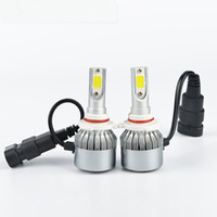 12 V C6 LED Araba Farlar COB H7 H1 H4 H3 H11 H8 9005 9006 Oto Başkanı Işıklar 8000LM LED Araba Lambaları 6000 K