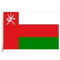 Bandiera Bandiera Oman 3X5FT-90x150cm 100% poliestere, bandiera esterna in tessuto lavorato a maglia con trama da 110gsm