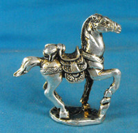 R1771 Rare Tibet Silver Carved Horse Figurine