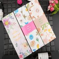 Floral Imprimé Longue Macaron Coffret Cadeau Lune Boîte À Gâteau Carton Emballage Présent pour Cookie Faveurs De Mariage Boîte À Bonbons