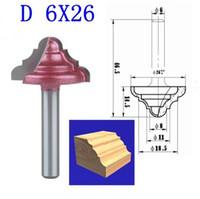 1 stks D 6 * 26mm (Shank * Blade Width) 3D Lace Woodworking CNC Gravure Machine Frees Mes, Wood Cutter Router Bit Messen
