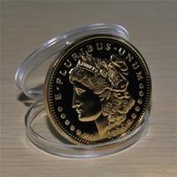 무료 배송 10 개 / 몫, 미국 모건 독수리 1896 골드 동전 메달리온 24 천개 999 골드 마감