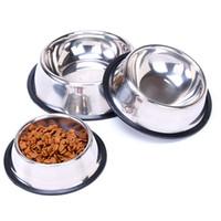 Paslanmaz Çelik Köpek Kase Yavru Kediler Gıda Su Besleyici Kedi Kaseler kaymaz Besleme Yemekleri Evcil Malzemeleri