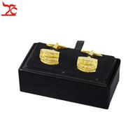 Nuovo arrivo 10pcs gemelli in similpelle titolare Super Deal Chirstmas regalo di imballaggio scatola di collegamento in pelle box caso di collegamento