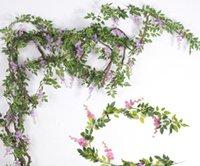 Simulação flor Wisteria flor, tira de flor de feijão, videira, plantas ornamentais flor Wisteria, L091