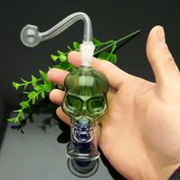 Цветной череп стеклянная бутылка воды стекло бонг водопровод Титана ногтей шлифовальный станок, стекло Bubblers для курения трубы смешивания цветов