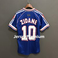 França Francia Retro 1998 Football Soccer Jerseys Home Blue ...