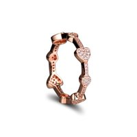CZ With Hearts Pandora Sterling Alluring Silver Jewelry Rose Gold Compatible Rings For Ring Wholesale DIY 925 Rkisj