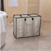Großhandel Portable drei Gitter große Kapazität Wäschekorb Haushalt Speicher Sammlung Wäsche Lagerbestände