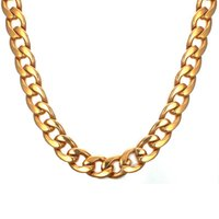 EURO- US Fashion Cuban Link Chains 11. 5mm Wide 24inch Long Ti...