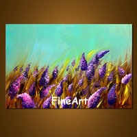 large canvas wall art paintings of flowers handmade good qua...