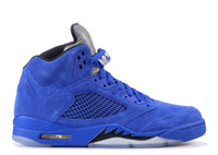 TOP Factory Version Five Blue Suede 5 Basketball Shoes mens ...