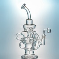 Triple Cyclone Recycler Glass Bong Klein Recycler Dab Rig Sh...