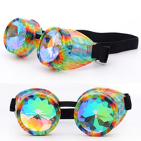 Rave Festival Party EDM Gafas de sol Diffracted Lens Halloween carnaval Gafas de sol Kaleidoscope Colorful Glasses JLY0809