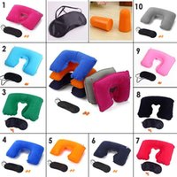 U Shaped Travel Air Pillow Neck Support Head Rest Cushion Gi...