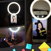 Fabricante de carga LED flash belleza relleno selfie lámpara exterior selfie anillo luz recargable para todos los teléfonos móviles LLFA