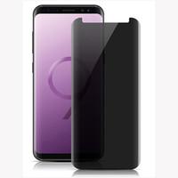 Protectors 개인 정보 보호 방지 안티 - 눈부심 방지 방지 3D 곡선 강화 유리 전화 화면 보호기 Samsung Galaxy Note9 S9 S9Plus Note8 Case Friendly