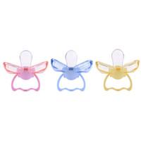 Novo Design Chupetas Do Bebê Seguro Grau Alimentício ABS Silicone Engraçado Mamilos Dentes Infantis Chupetas Chupetas Forma de Lábio Alimentação Do Bebê