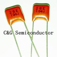 100 unids 104J 100 V CBB Polipropileno película condensador paso 5 mm 104 100 nF 100 V