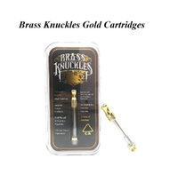 Top quality Brass Knuckles Cartridge Gold Pyrex Glass Tank 1...