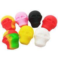 3ml skull containers assorted color silicone container for D...