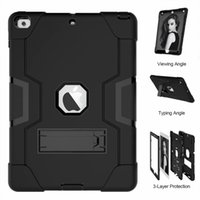 Robot Armor Hybrid Kickstand Case For iPad Mini 1 2 3 Air Pro 9.7 2017 2018 Impact Hybrid Armor Shockproof Cover Stand Plastic TPU Shell