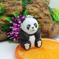 32*27*49mm Cute Panda keychain Toys with LED light and sound...