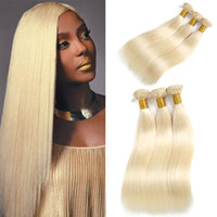 613 Blonde Indian Human Hair Bundles 3Pcs Straight Weave Ext...