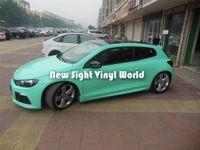 Высокое качество Тиффани синий глянцевый винил автомобиль обернуть ролл воздуха релиз для упаковки автомобиля размер: 1.52*30 м / рулон