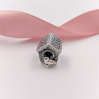 Authentic 925 Sterling Silver Beads Spring Bird House Charms...