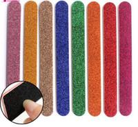 بريق ملفات الأظافر العازلة ضعف الجانب مسمار أدوات العناية الفن الرملي باديكير مانيكير العناية أدوات ماكياج مزيج اللون