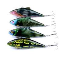 4 Pçs / lote Alta Qualidade Isca De Pesca VIB Crankbaits Vibrações Difíceis Iscas De Pesca vibração Vibrações Chocalho Ganchos para Robalo Truta Livre grátis
