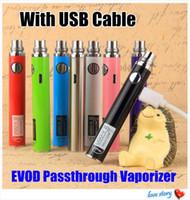Nova marca UGO-V II Bateria UGO-T 650 900 1100 mah eVod ugo Passthrough E Cigarro 3.3-4.2 V Micro Usb Charge Porto ego 510 Fio Vape canetas
