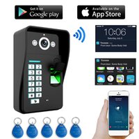 HD 720P Video Türsprechanlage Wireless WIFI RFID Passwort Fingerabdruck Video Türklingel Intercom IP Kamera Unterstützung iOS Android Phone PC