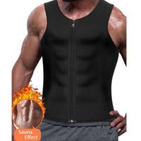남자 슬리밍 Neoprene 조끼 뜨거운 트레이너 Shapewear 땀을 셔츠 바디 셰이퍼 허리
